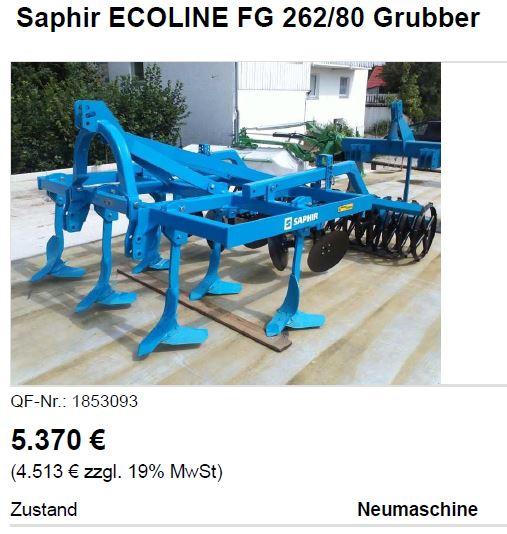 Saphir Grubber Ecoline, 8.7.